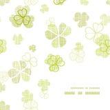 Clover textile textured line art frame corner Stock Images