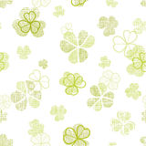 Clover textile textured line art seamless pattern Stock Photos