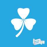 Clover with three leaves sign icon Stock Photography