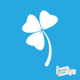 Clover with three leaves sign icon Royalty Free Stock Image