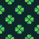 Clover vector seamless pattern Royalty Free Stock Photo