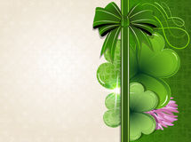 Clover on vintage background Royalty Free Stock Photos