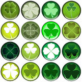 Clover web buttons Stock Photo