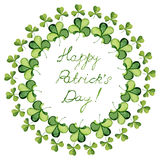 Clover wreath Stock Images