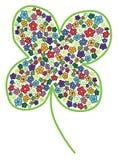 Cloverleaf с покрашенным цветком Стоковая Фотография