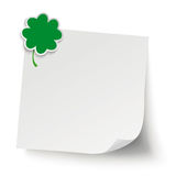 Cloverleaf Gray Sticker Stock Images
