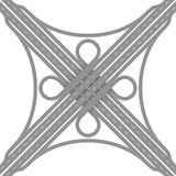 Cloverleaf Interchange Road Junction Royalty Free Stock Images