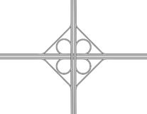 Cloverleaf Intersection Illustration Royalty Free Stock Image