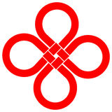 Cloverleaf knot Stock Photo