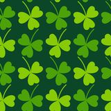 Cloverleaf Seamless Saint Patrick's Day Pattern Royalty Free Stock Image