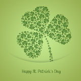 Cloverleaf for St. Patrick Day Royalty Free Stock Images
