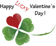 ~ Cloverleaf - Valentine´s Day ~. Cloverleaf with heart for everyone who is in love Stock Photos