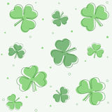 Clovers background Stock Images