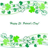 Clovers background on St. Patrick's Day Royalty Free Stock Photos