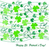 Clovers background on St. Patrick's Day Stock Images