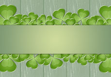 Clovers on green background Stock Photo
