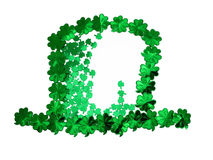 Clovers hat. Clovers background in a hat shape Stock Image