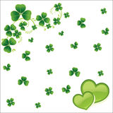 Clovers leaves background with heart  eps10. Clovers leaves background with heart eps10 Royalty Free Stock Image