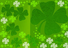 Clovers  pattern. Colorfull pattern   bokeh   layers  pattern background effect Stock Photos