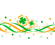 Clovers and ribbons Stock Images
