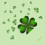 Clovers for St. Paddy's Day Stock Photography