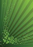 Clovers, St. Patrick's day background. St. Patrick's day clover on a green abstract background Royalty Free Stock Photos