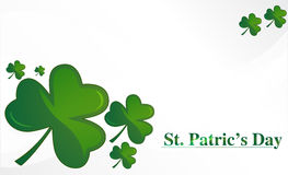 Clovers for St. Patrick`s day, vector illustration Stock Image