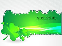 Clovers for St. Patrick`s day, vector illustration Royalty Free Stock Images