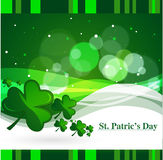 Clovers for St. Patrick`s day, vector illustration Royalty Free Stock Image