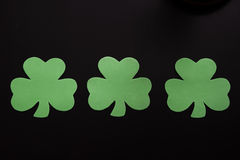 3 clovers Stock Photography