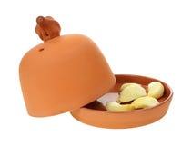 Cloves чеснока подготавливают выпечку Стоковые Фото