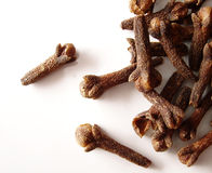 Cloves. On white background Stock Photography