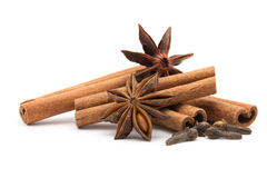 Cloves, Anise And Cinnamon Stock Images