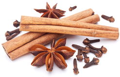 Cloves, anise and cinnamon Stock Photography