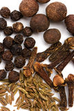 Cloves, caraway and black pepper Stock Photos