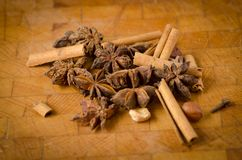 Cloves and carnation Stock Photos