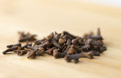 Cloves chopping board Detail Royalty Free Stock Photo