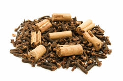 Cloves and Cinnamon Stock Image