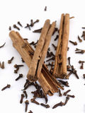 Cloves and Cinnamon Royalty Free Stock Photo