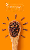 Cloves with clipping path Royalty Free Stock Photos