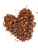 Cloves in heart shape Royalty Free Stock Photography