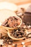 Cloves i czekolada obrazy royalty free