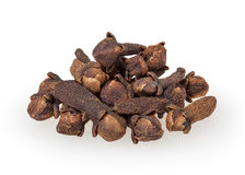 Cloves isolated on white. Background with clipping path royalty free stock images