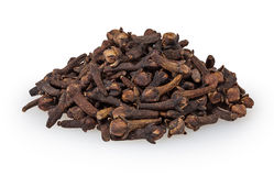 Cloves isolated on white Royalty Free Stock Images