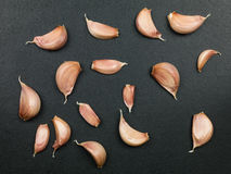 Cloves of Uncooked Aromatic Garlic Stock Photography