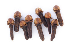 Cloves on white background Stock Photography