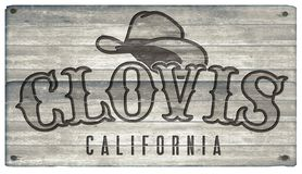 Clovis California Western Town Style tecken vektor illustrationer