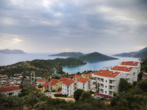 Clowdy day in Kas Royalty Free Stock Photos