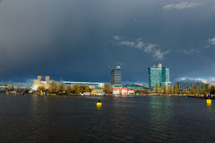 Clowdy Oosterdok in Amsterdam Lizenzfreie Stockfotos