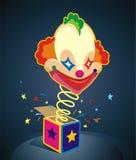 Clown-Überraschung! stock abbildung